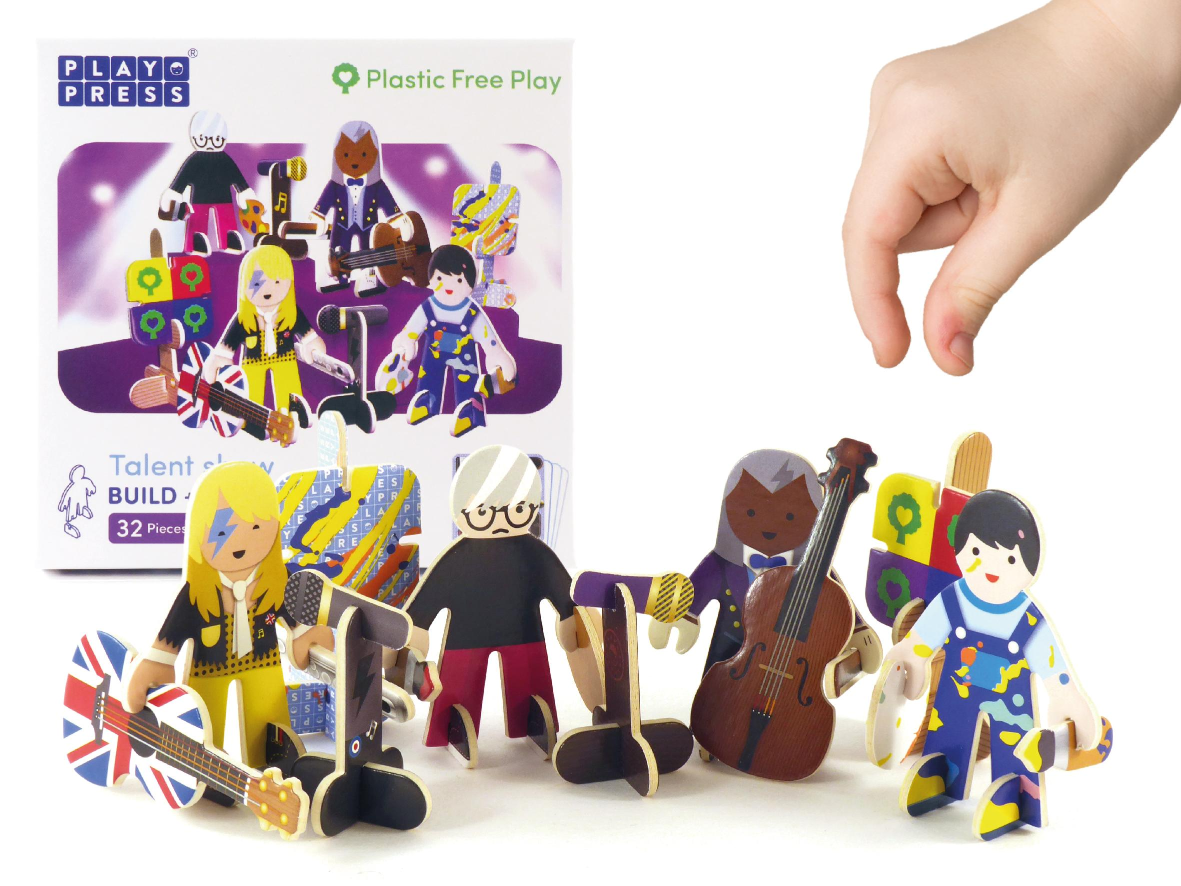 Cardboard Talent Show Game Pieces