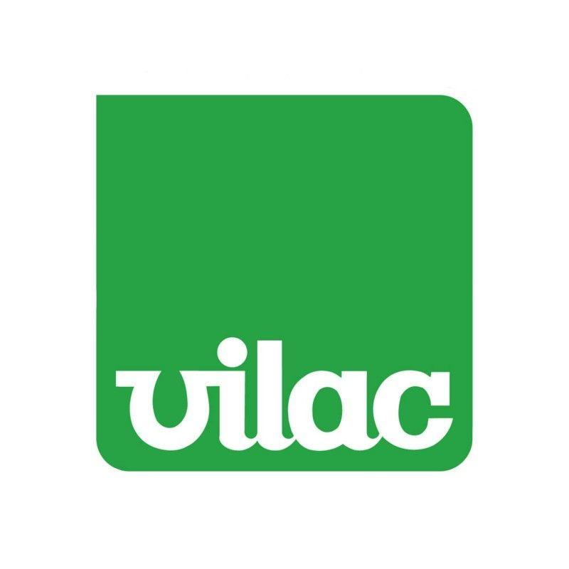 Green and white Vilac Logo