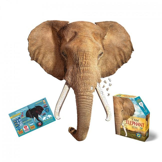 Large elephant head jigsaw.