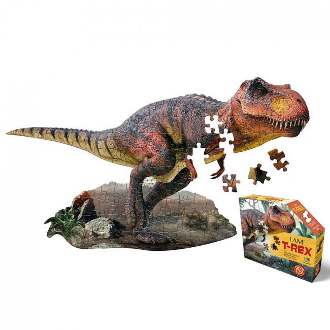 T-rex shaped jigsaw puzzle.