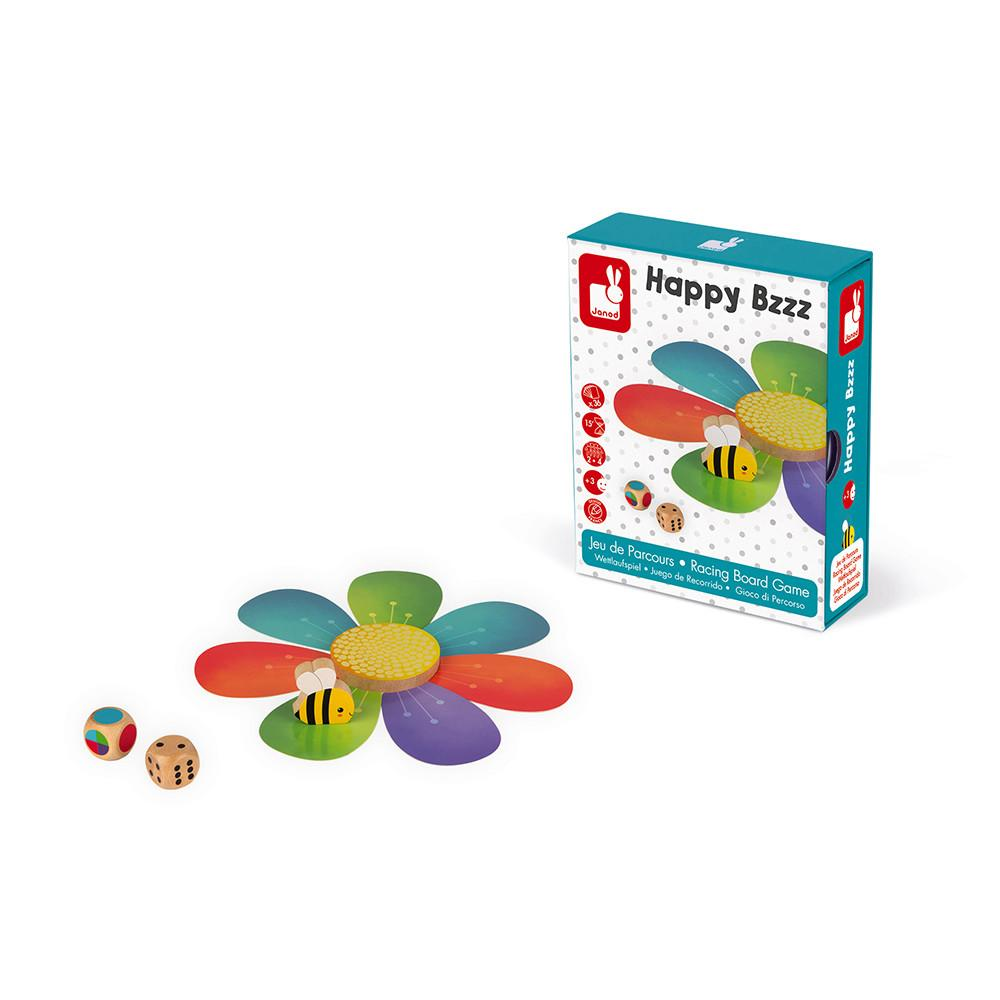 Box showing daisy and bee game.