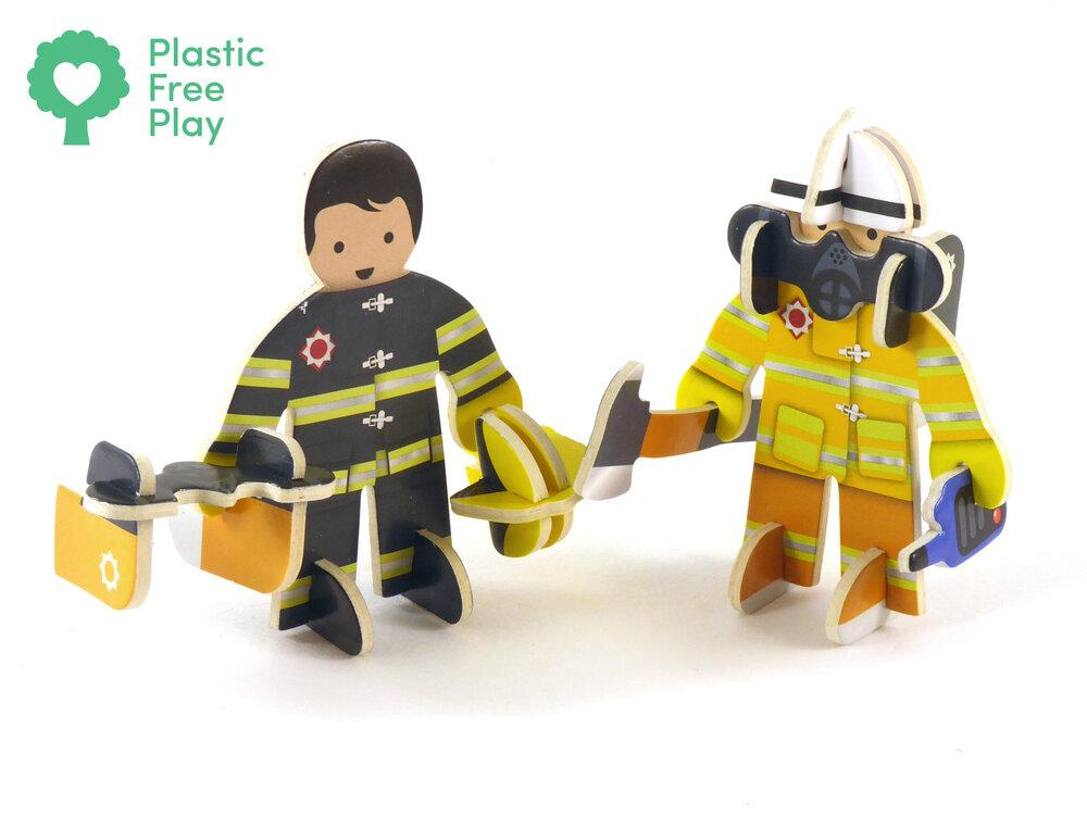 Cut out firemen pieces for Rescue Team Play Press set.