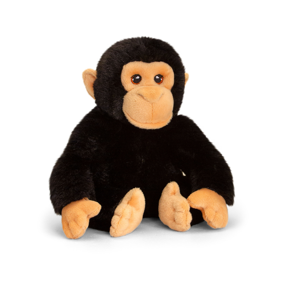 Black soft chimp toy.