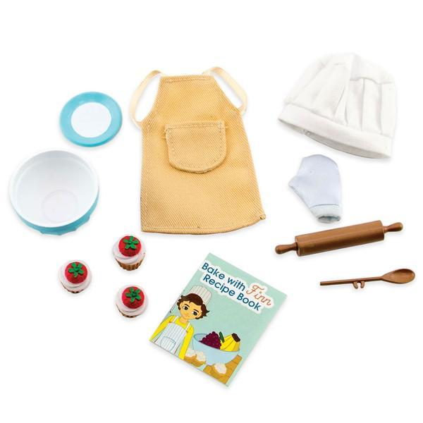 Baking Outfit for Lottie Doll range includes apron, rolling pin and chefs hat!