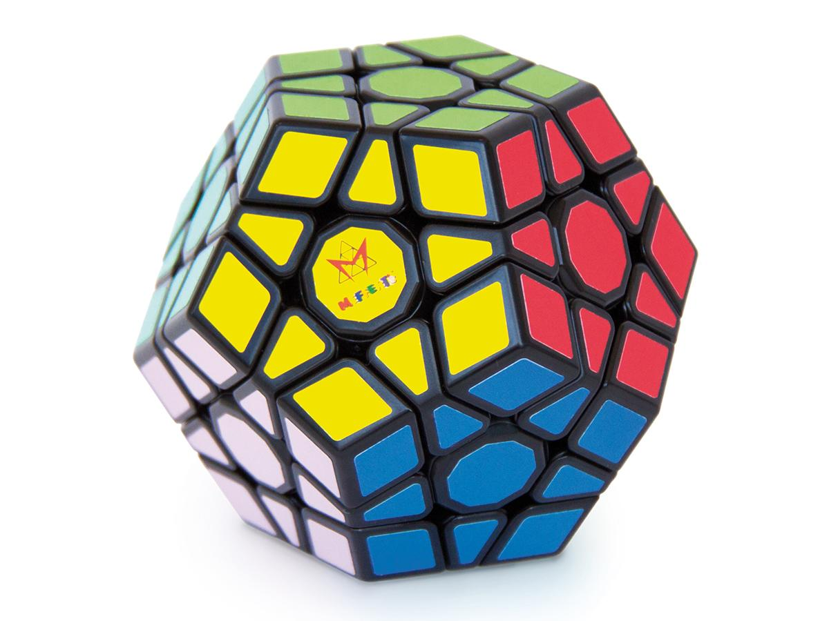 Multi-faceted Megaminx puzzle with moving pieces.