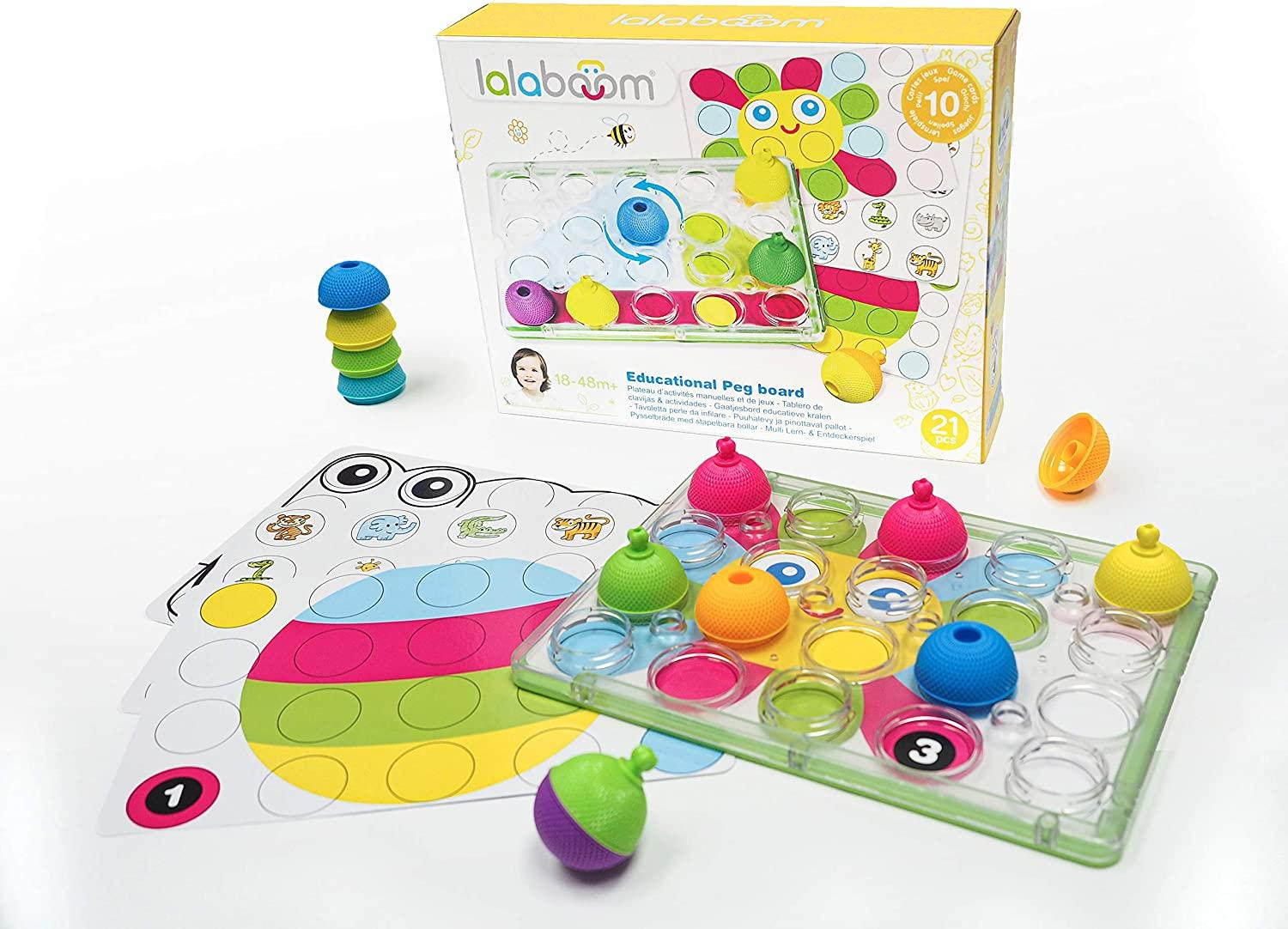 Lalaboom's snap-together beads with a board.