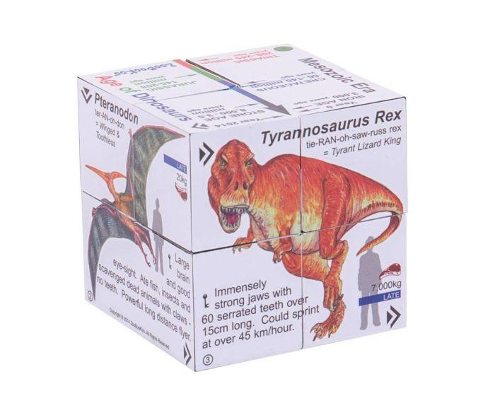 Cube that opens up to show lots of facts about dinosaurs on each side.
