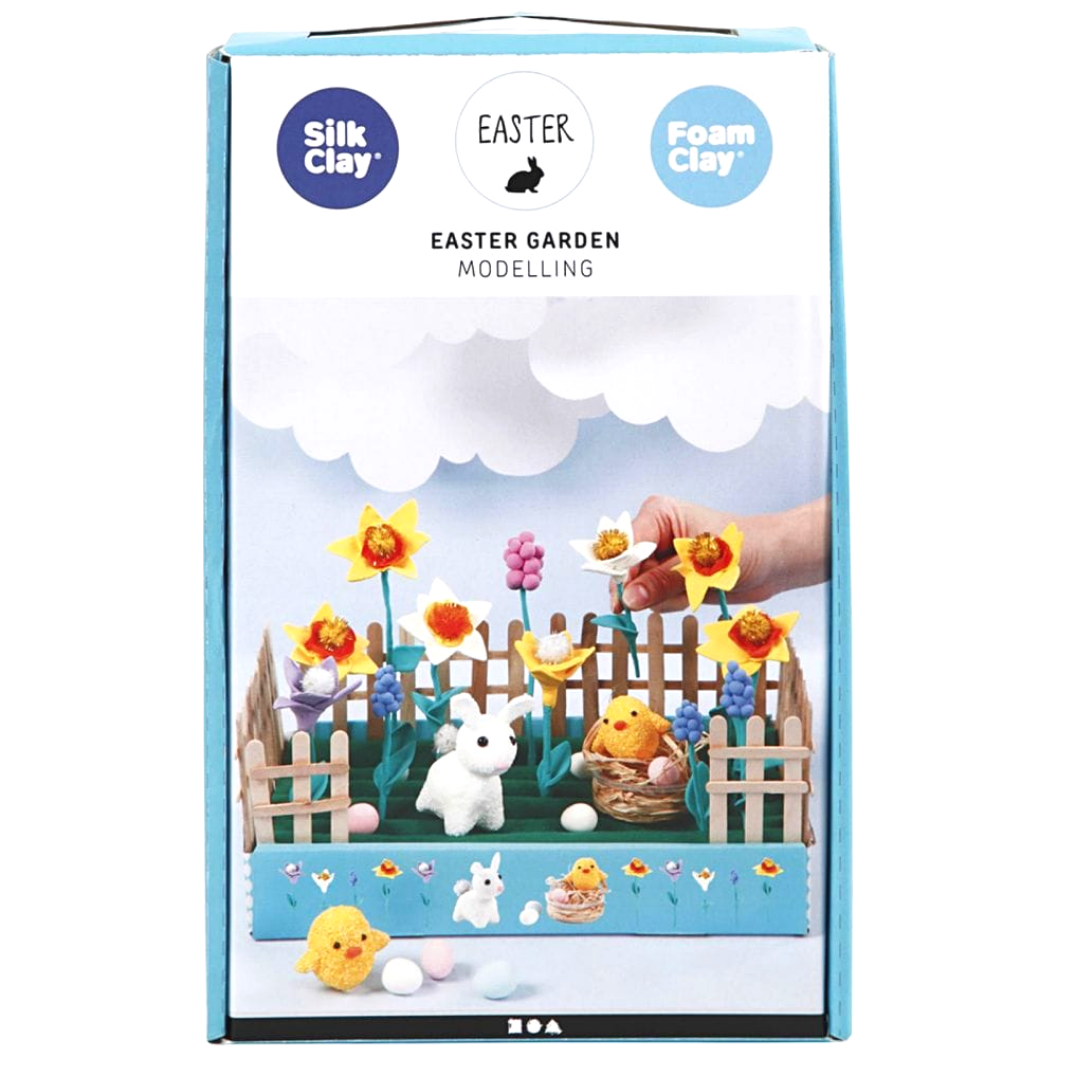 Box containing modelling kit to make your own Easter garden.