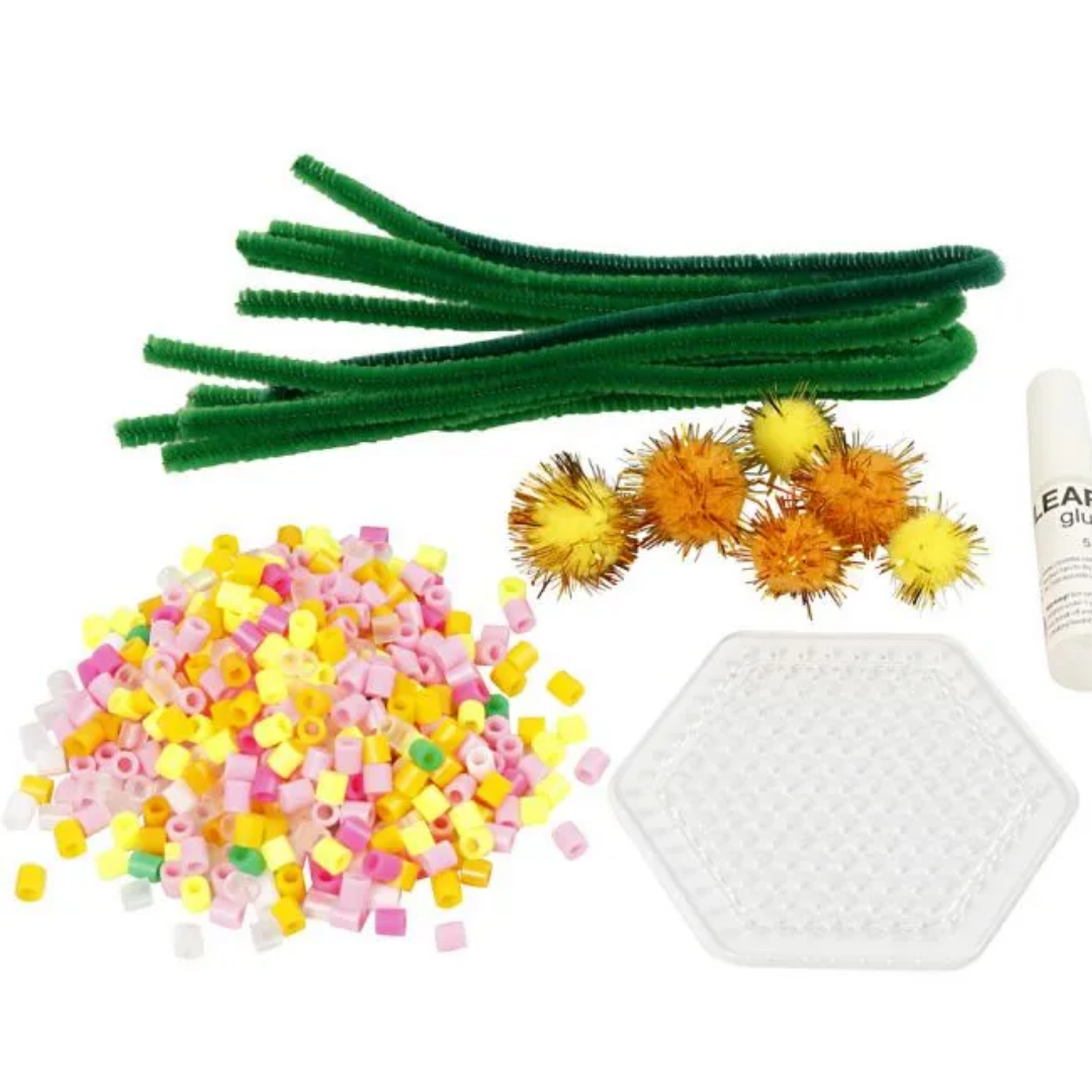 Contents of Easter flower craft kit.