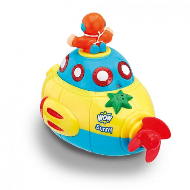Toy submarine from the back.
