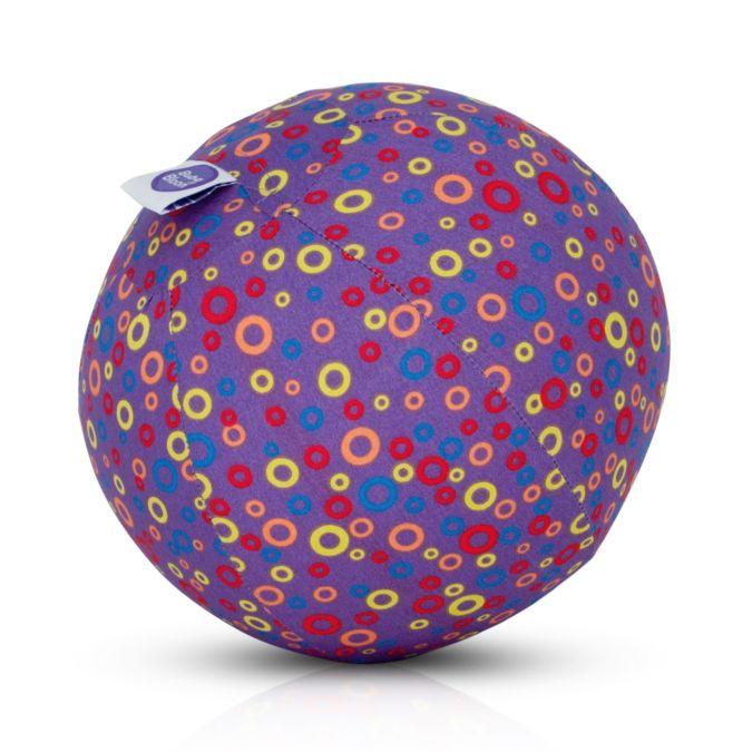 Bright, purple patterned balloon cover.