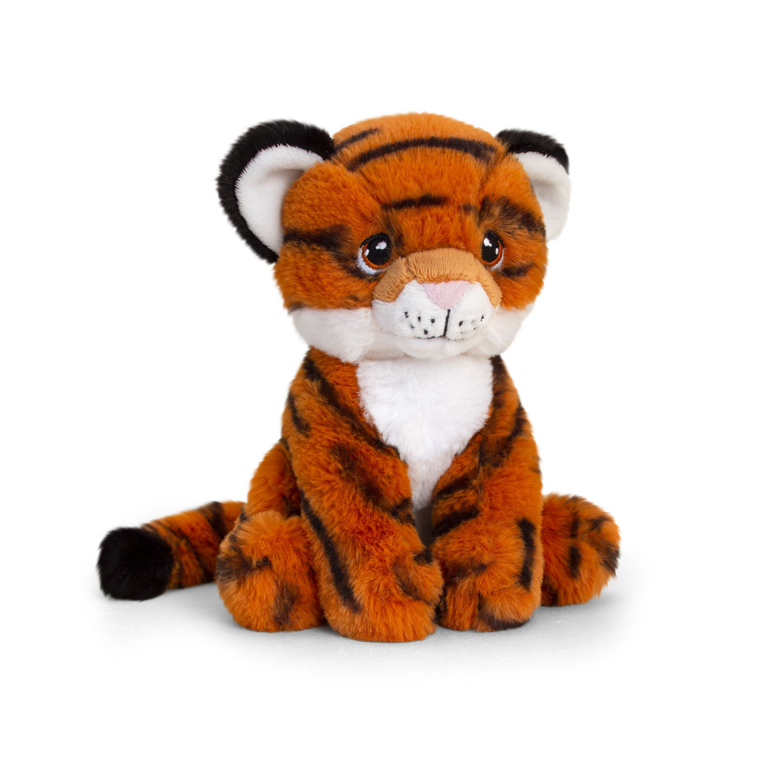 Cuddly tiger toy.