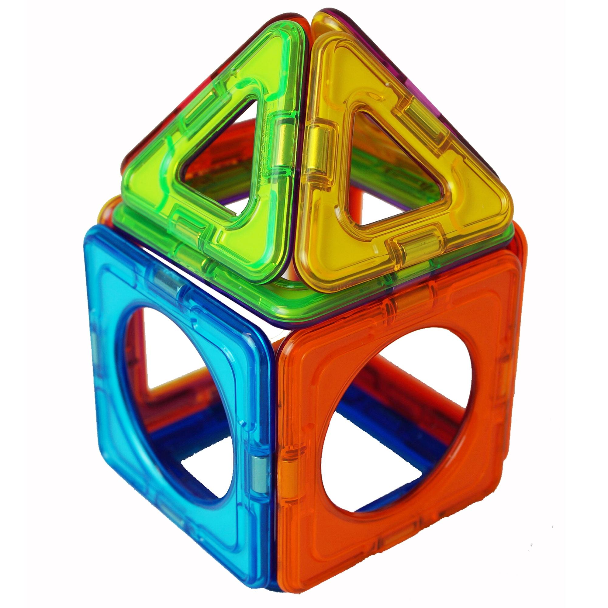 Colourful shape made from Magformers pieces