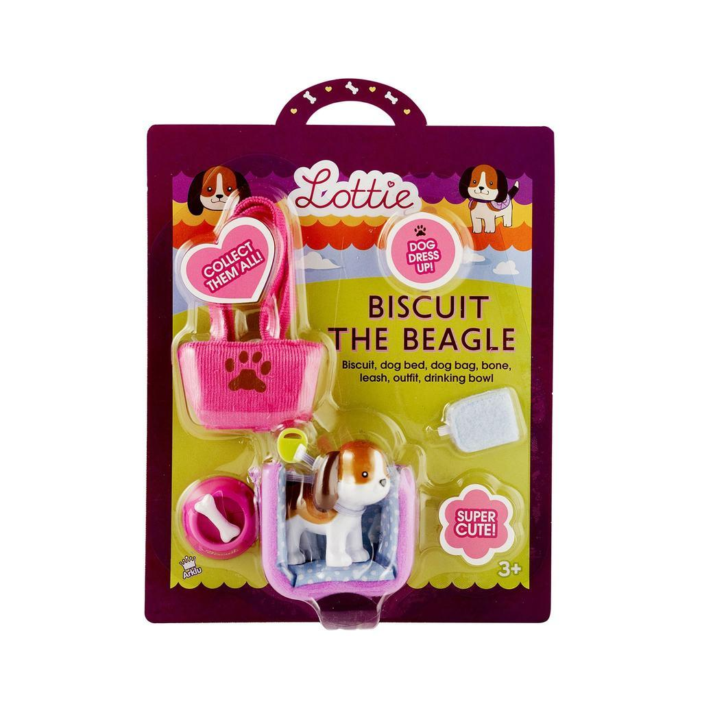 Packaging for Biscuit the beagle toy dog.