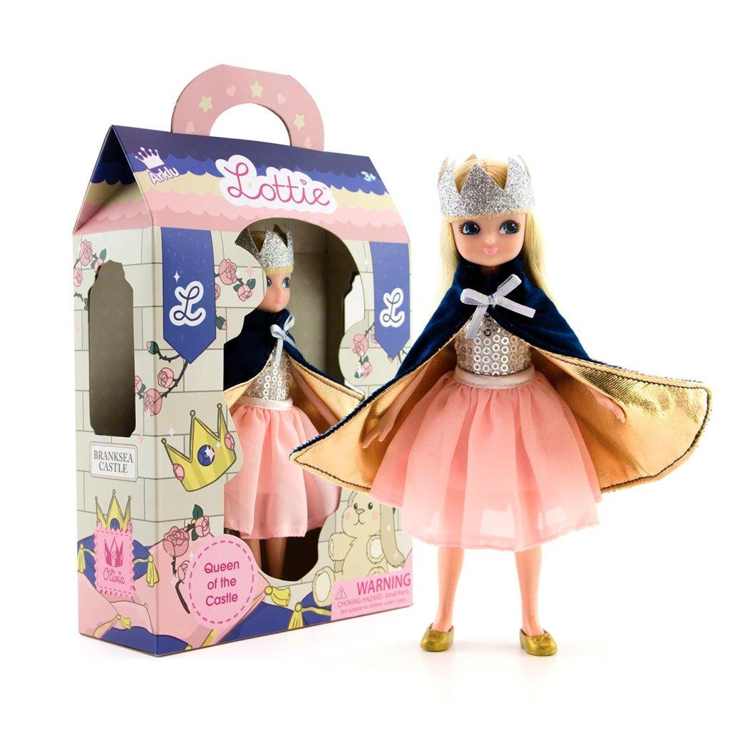 Lottie Queen doll packaging.