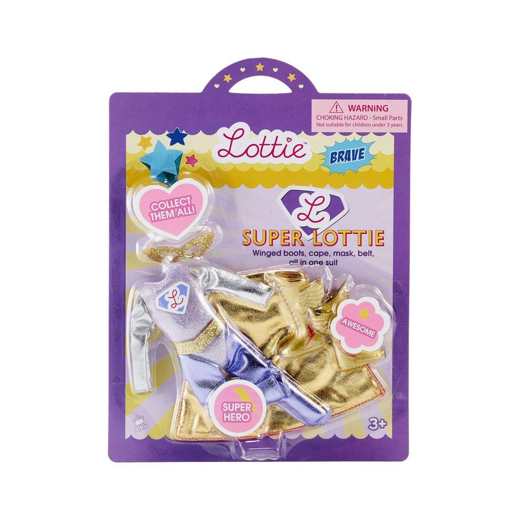Packaging for Super Lottie outfit.