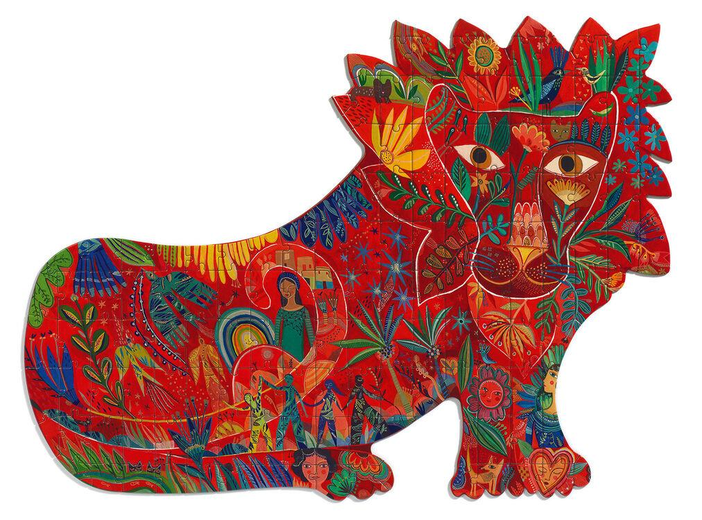 150 piece colourful lion-shaped jigsaw