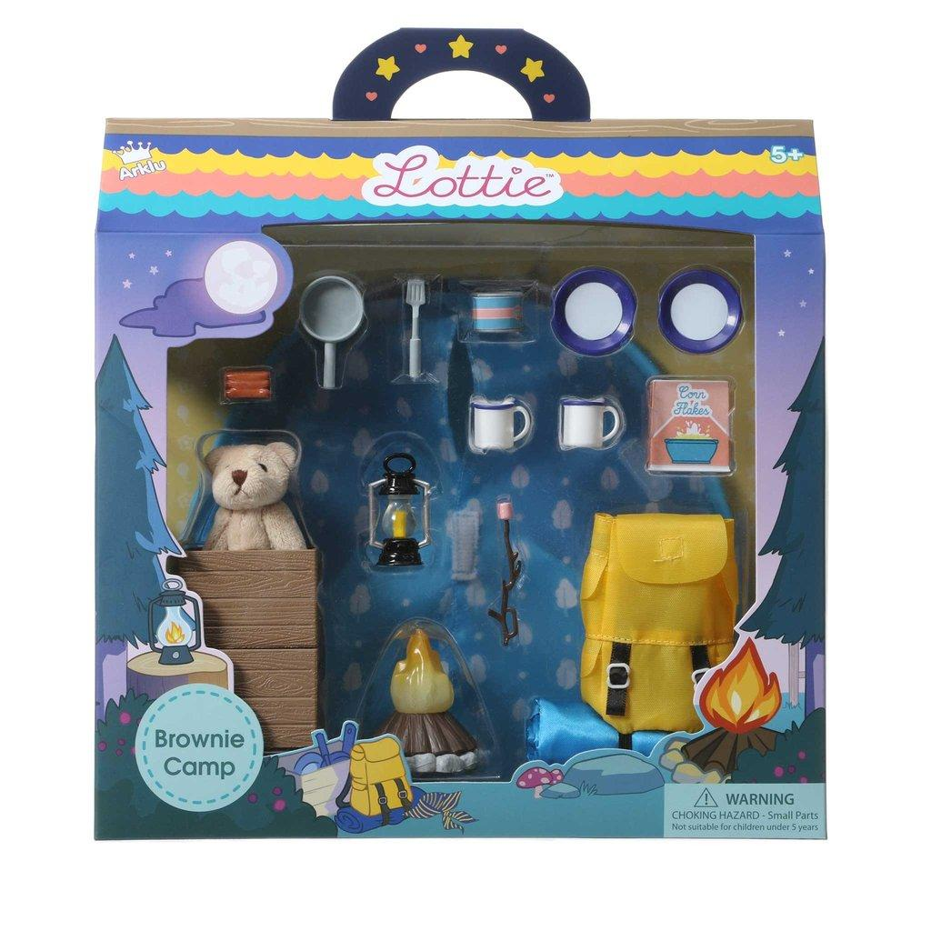 Packaging showing the Lottie Campfire Fun set.