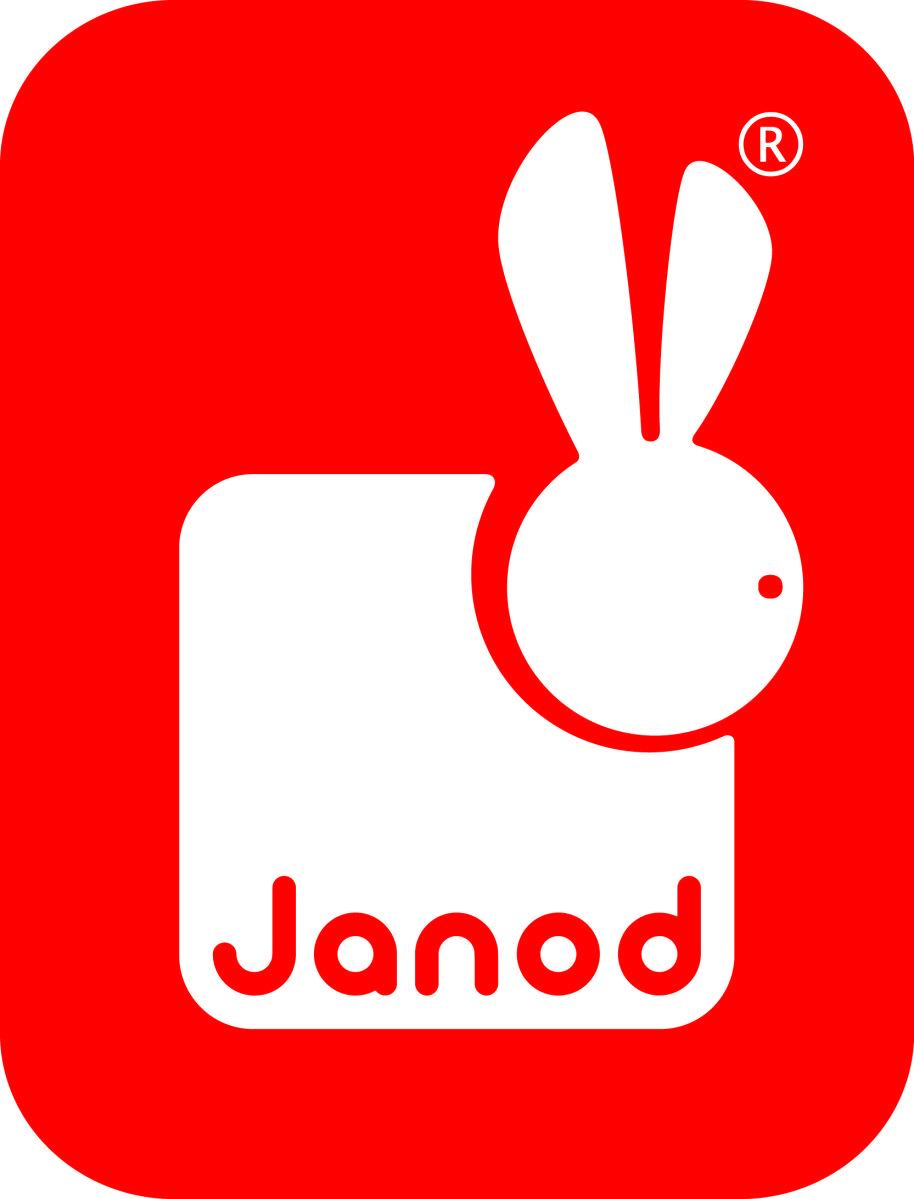Red and white Janod logo