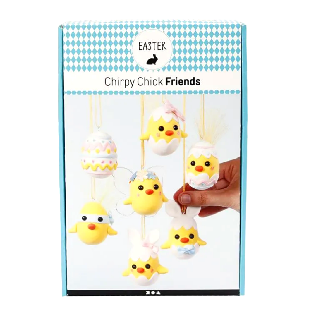 Box with Easter Chick Crafting kit on a white background.