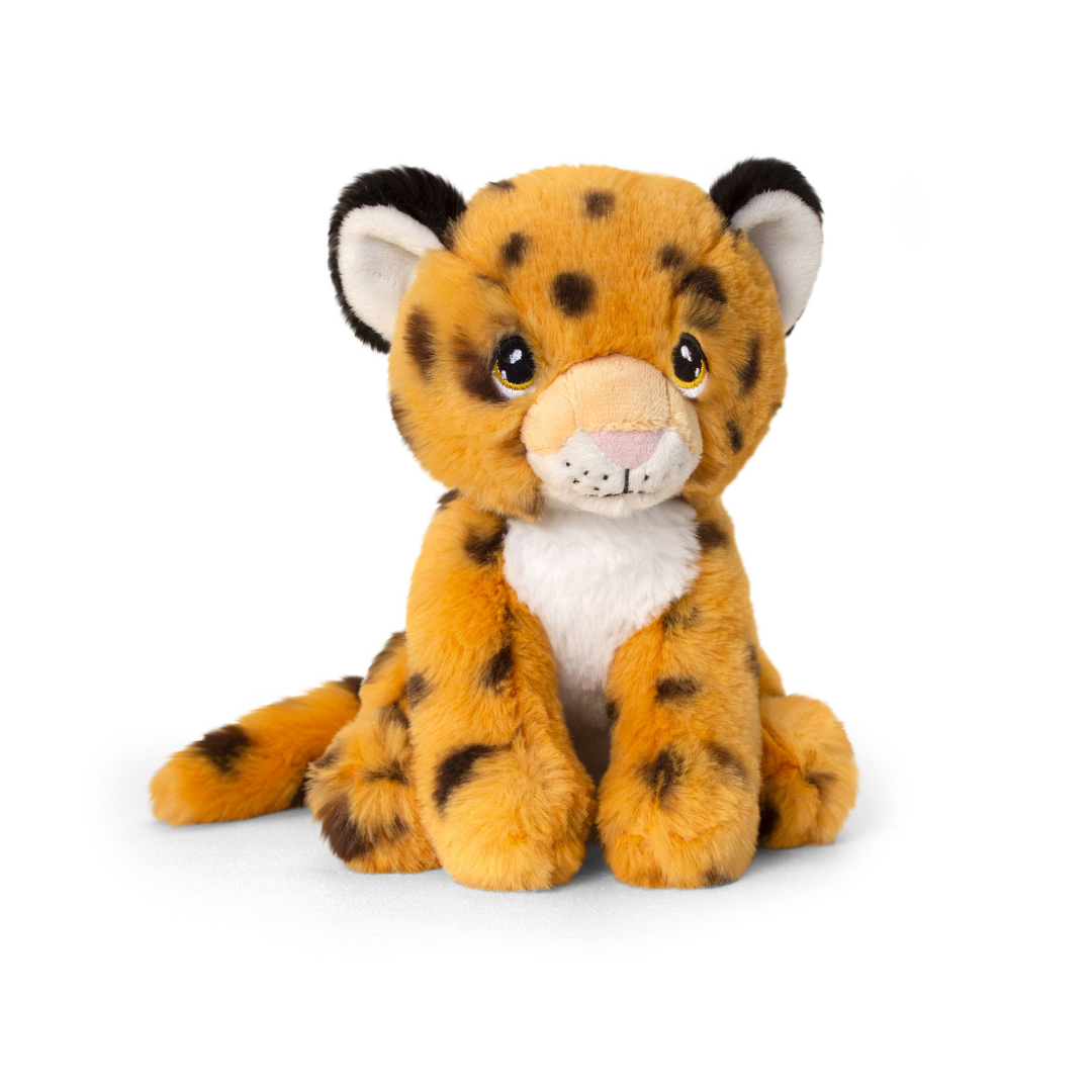 Soft, spotted cheetah toy.