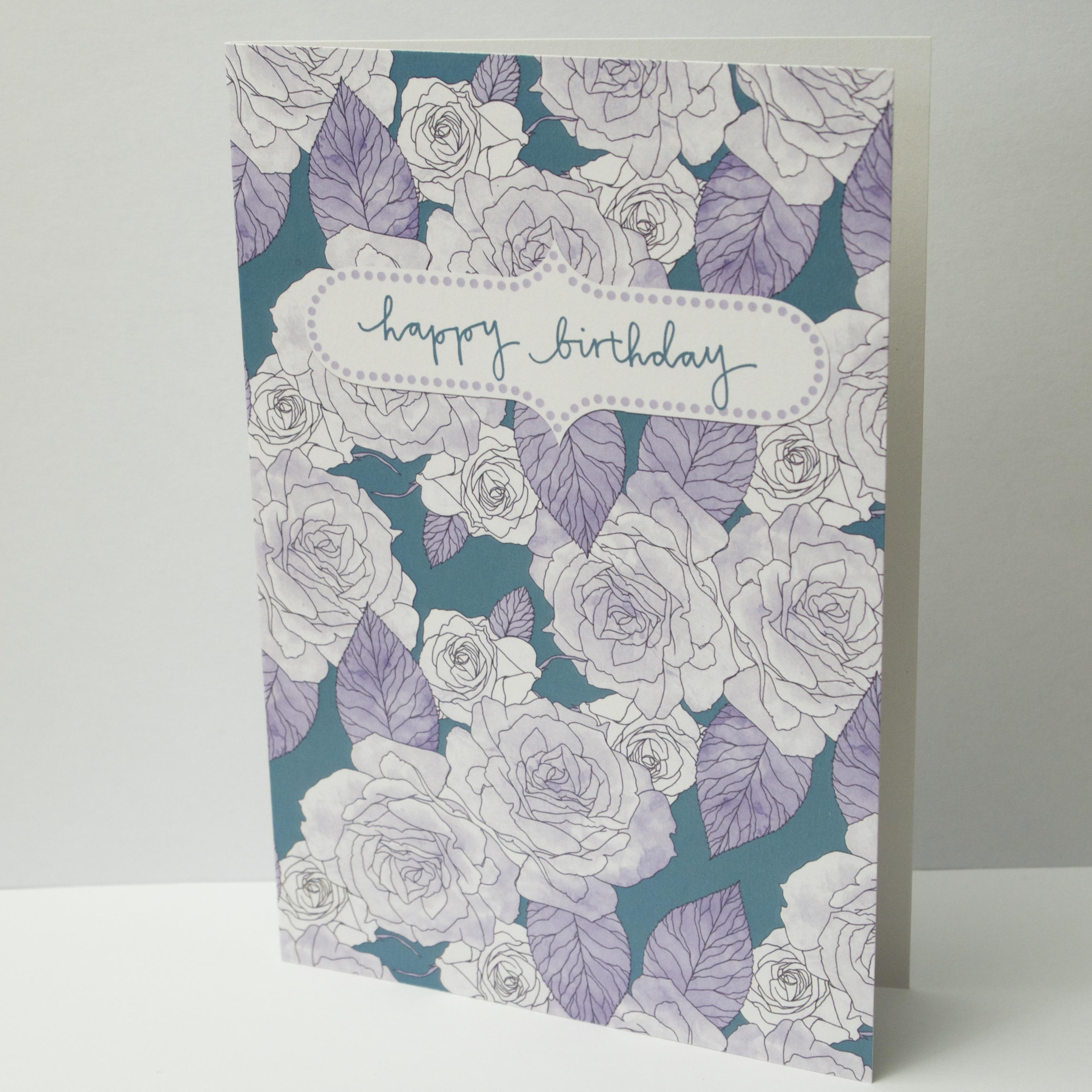 Blue Roses card