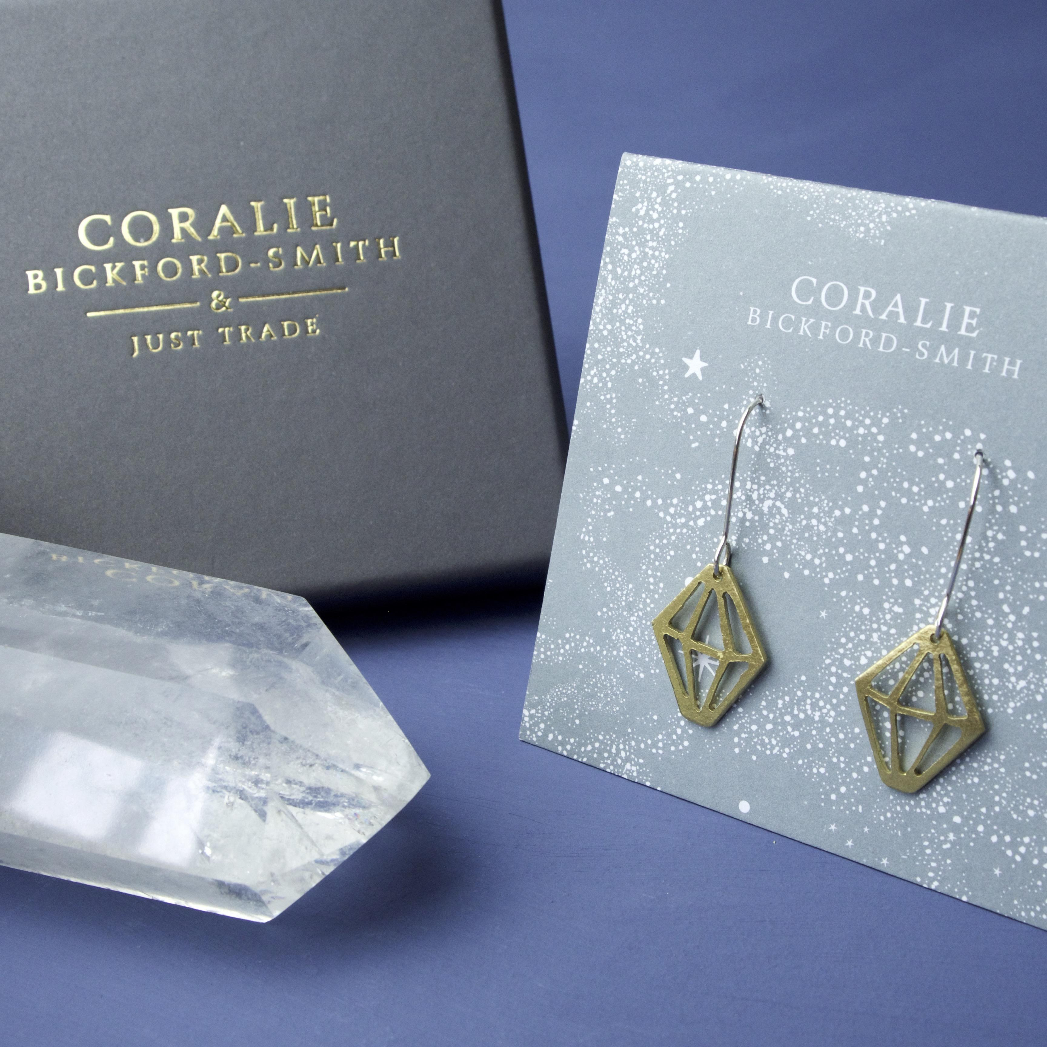 Coralie Crystal Earring in box