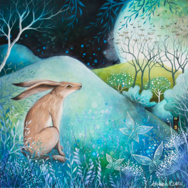 Hare and Moon card