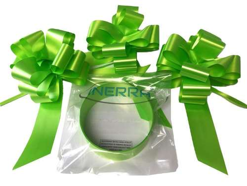 lime green wedding car decoration kit ribbon and bows