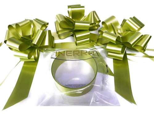 olive wedding car decoration kit ribbon and bows
