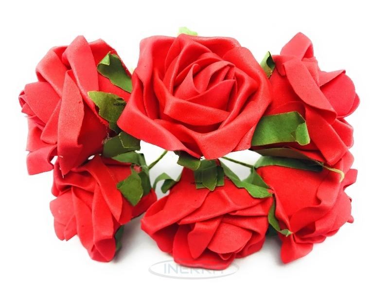red colourfast foam roses