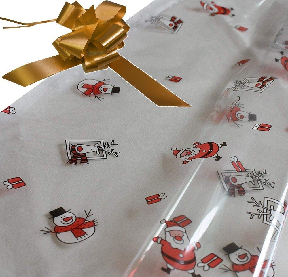 copper hamper wrapping kit cellophane wrap santa
