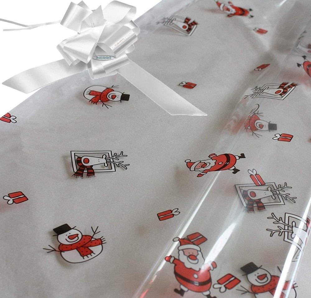 white hamper wrapping kit cellophane wrap santa