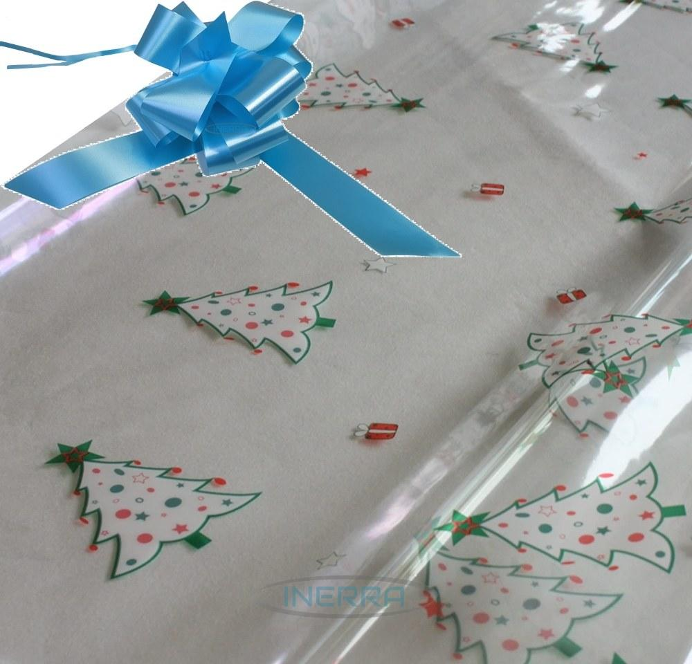 baby blue hamper wrapping kit christmas trees cellophane wrap
