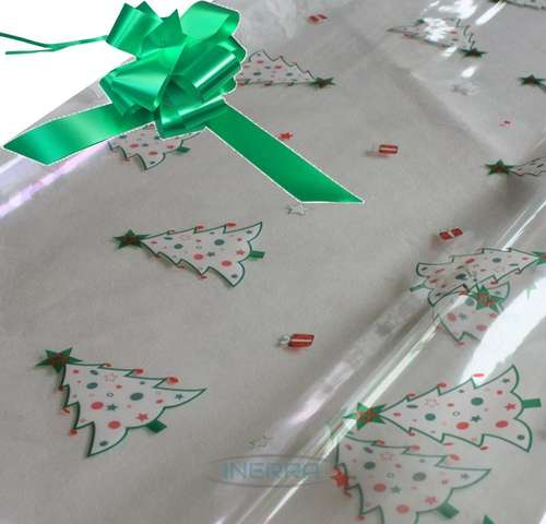 EMERALD hamper wrapping kit christmas trees cellophane wrap