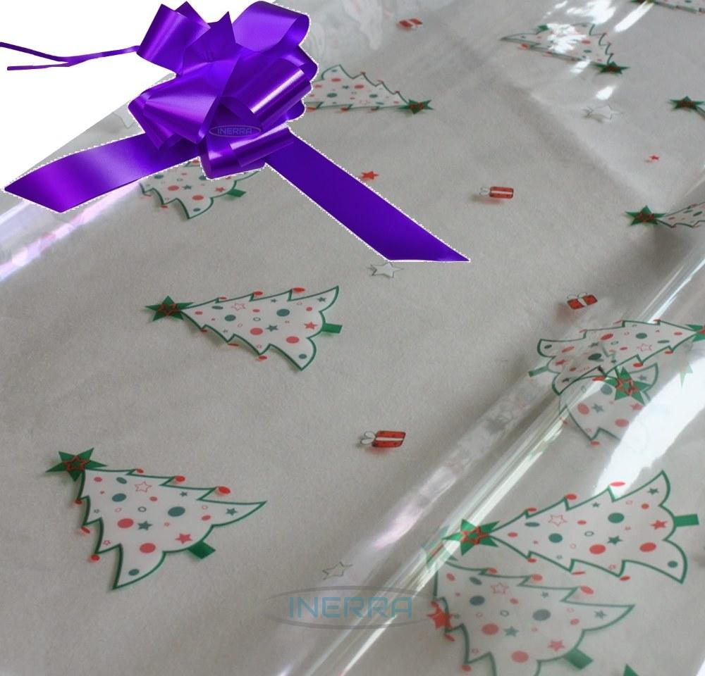 purple hamper wrapping kit christmas trees cellophane wrap