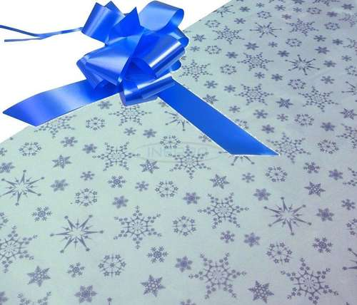 mid blue hamper wrapping kit cellophane bow christmas