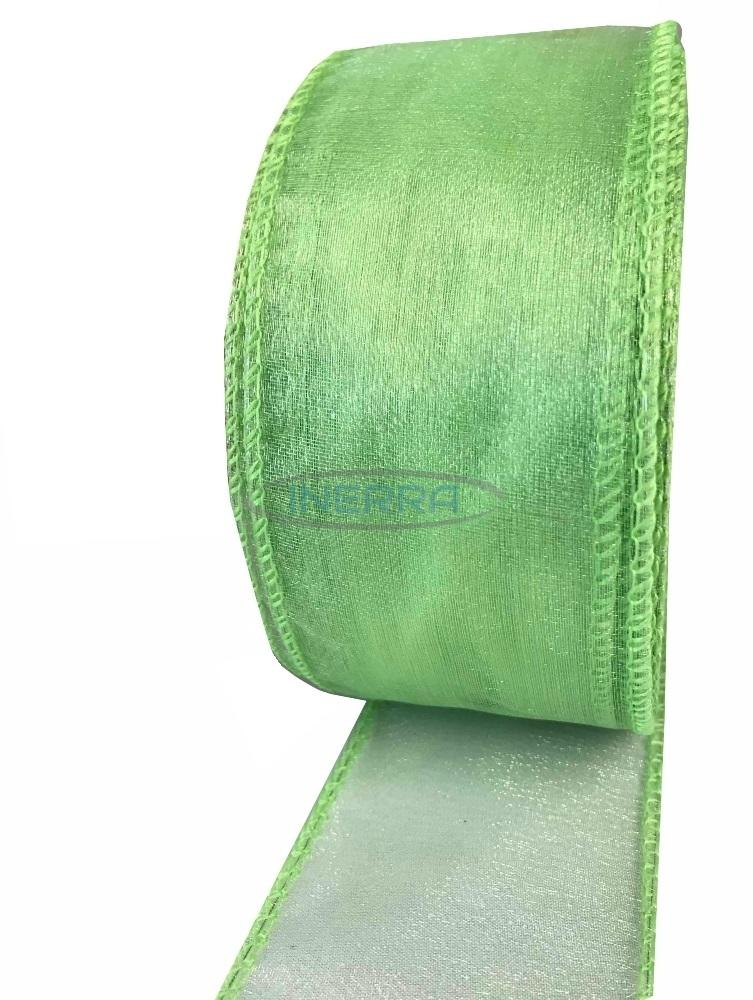lime green organza wired edge ribbon