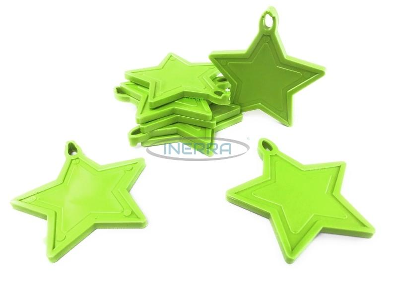 lime green star balloon weights