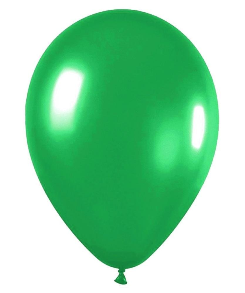 metallic lime green balloons