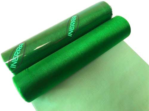 organza christmas fabric roll sheer emerald green decoration drape