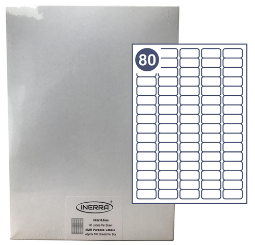 80 per sheet blank labels