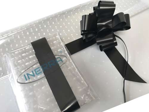 hamper wrapping kit gift basket christmas cellophane wrap and bow black