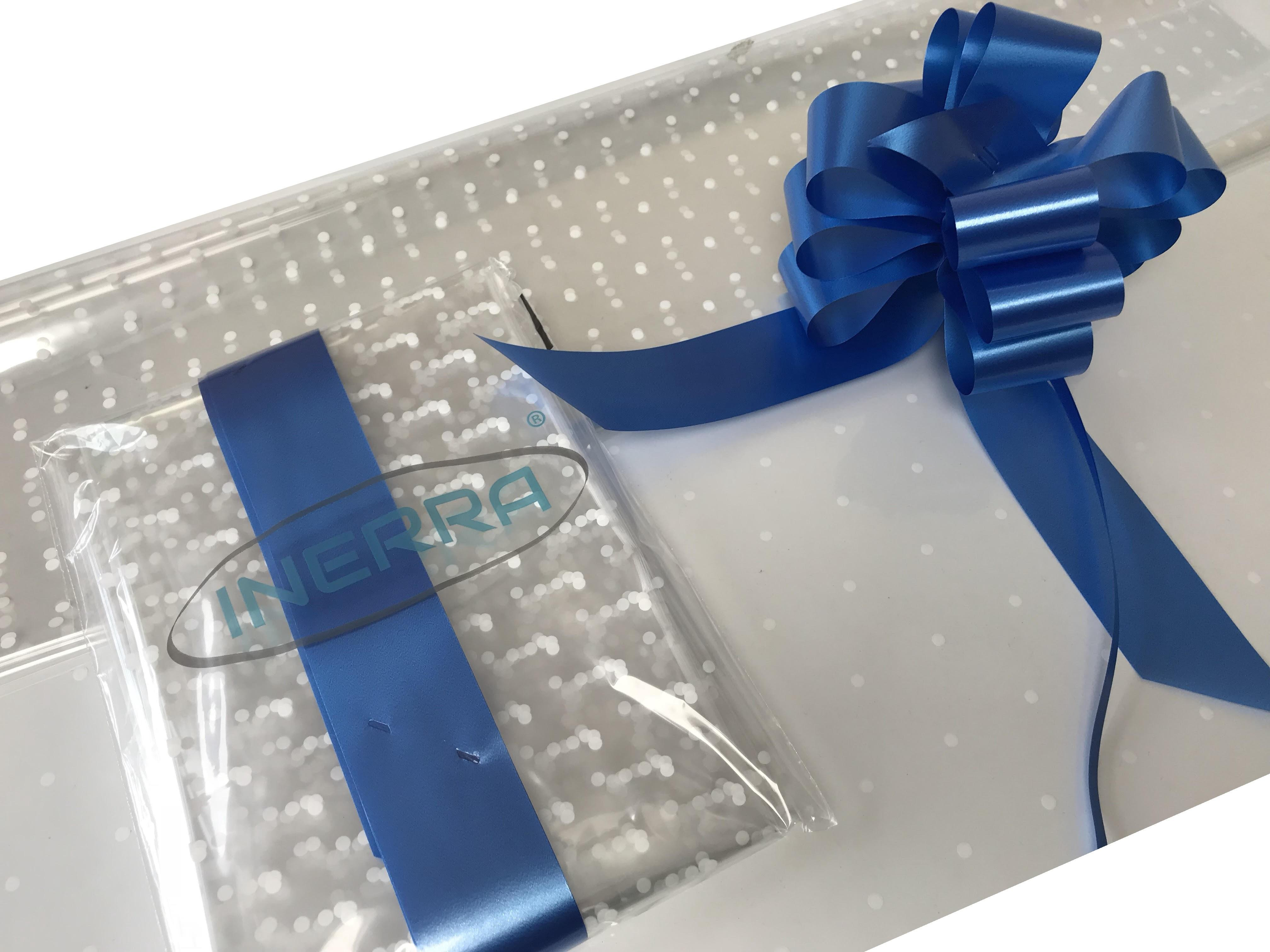 royal blue hamper wrapping kit gift basket christmas cellophane wrap and bow