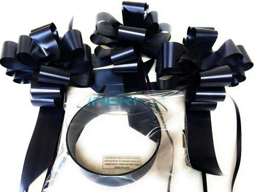 black wedding car decoration kit ribbon and bows