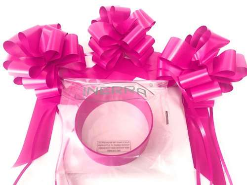 Cerise wedding car decoration kit ribbon and bows