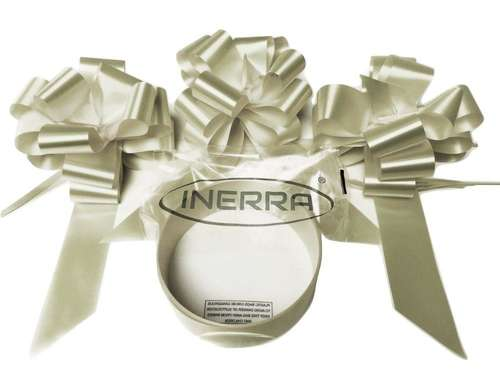 cream wedding car decoration kit ribbon and bows