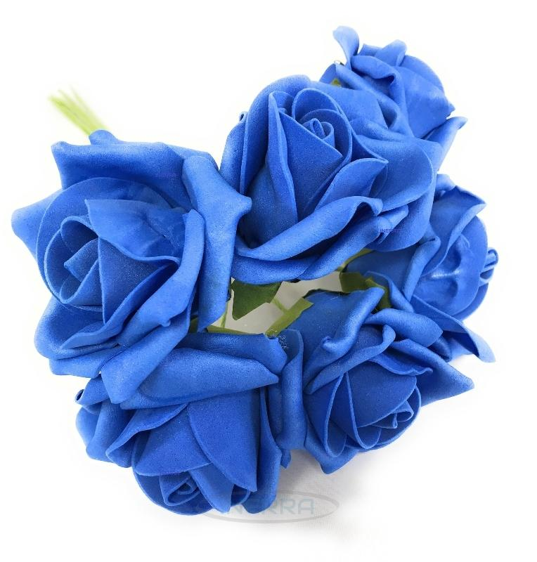 royal blue colourfast foam roses