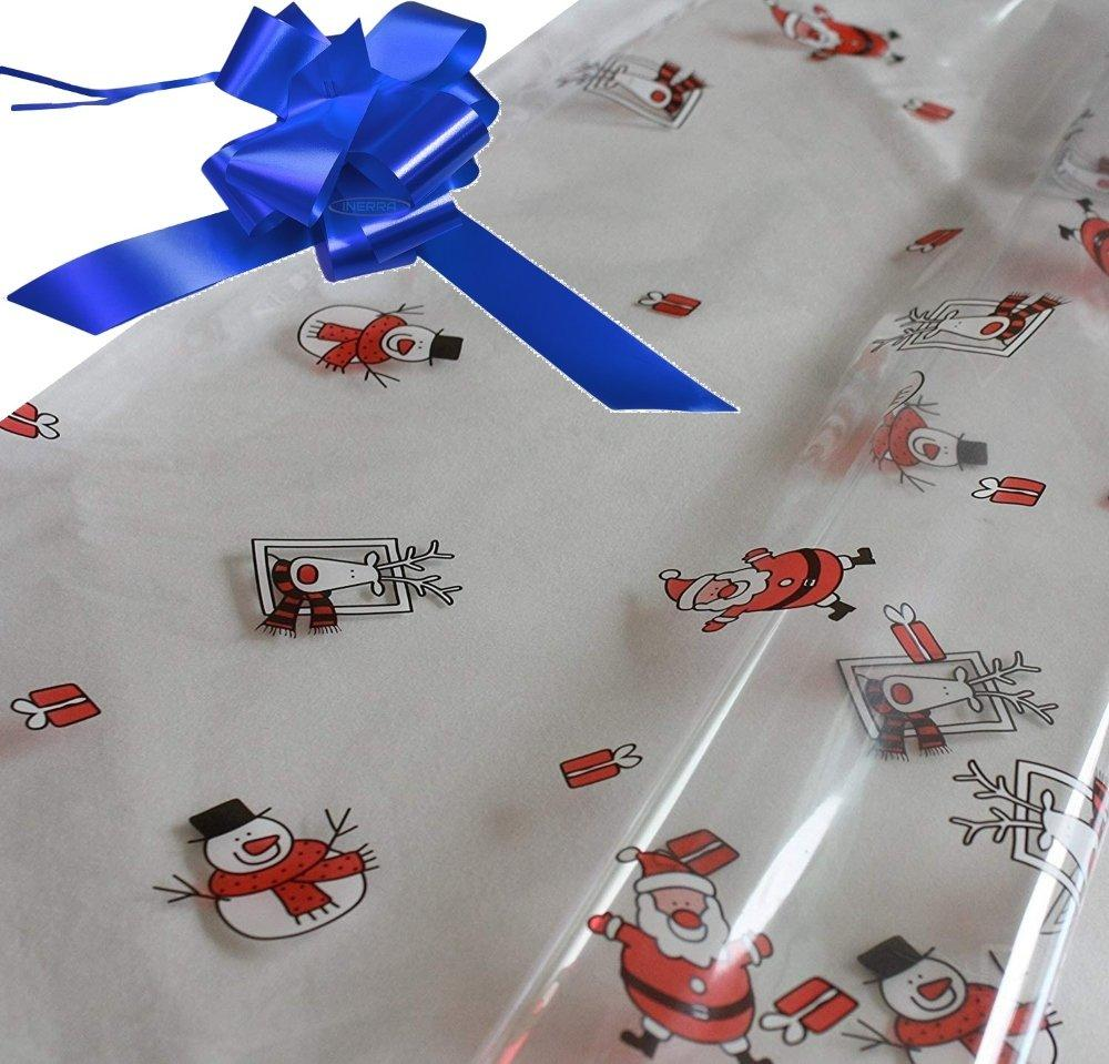 royal blue hamper wrapping kit cellophane wrap santa