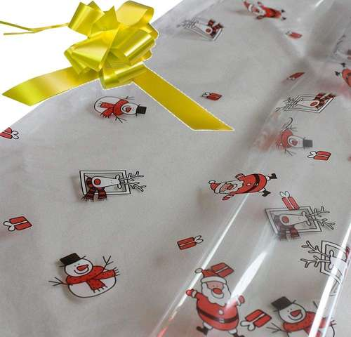 yellow hamper wrapping kit cellophane wrap santa